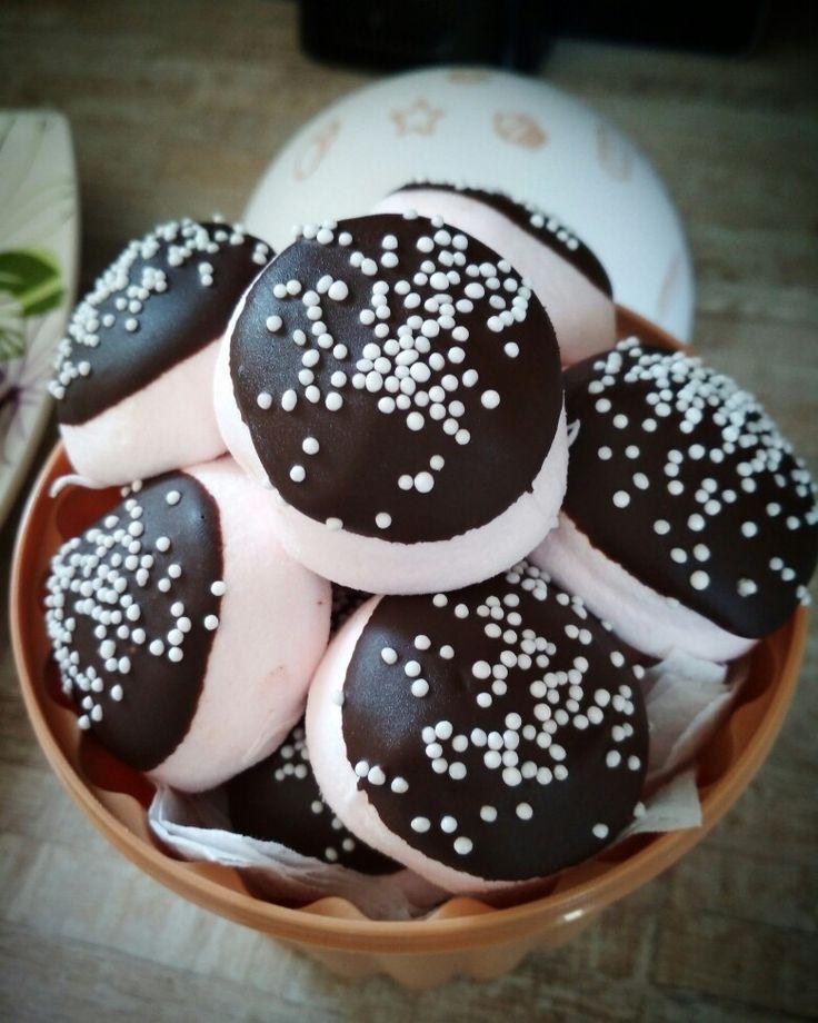 Marshmallows με σοκολάτα 🍡🍫