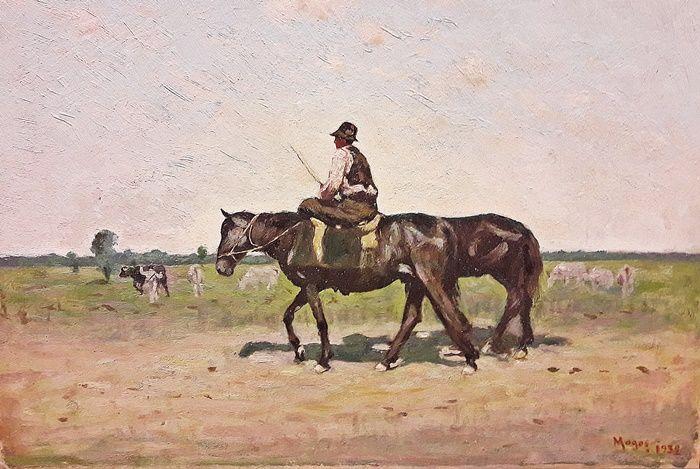Nicolae Petrescu Mogoș (1870-1948)- Spre pășune / To the pasture