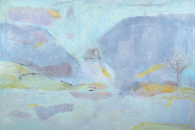 'KENIDJACK' | Rose Hilton: Oil on canvas H 122 x W 183cm (H 48 x W 72 in) | From 'Rose Hilton: The Beauty of Ordinary Things, a Selected Retrospective, 1950-2007', Tate St Ives 2008     ✫ღ⊰n