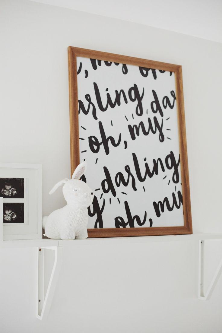 "Free Printable ""Oh My Darling"" Poster."
