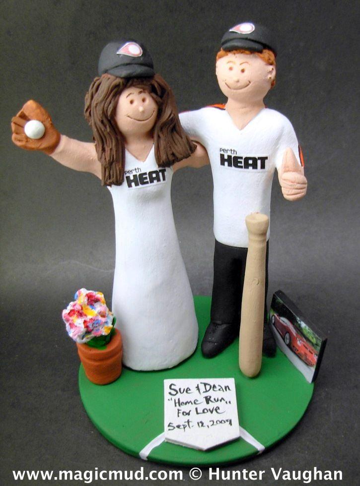 Perth Heat Australian Baseball Wedding Cake Topper Magicmud 1 800 231 9814