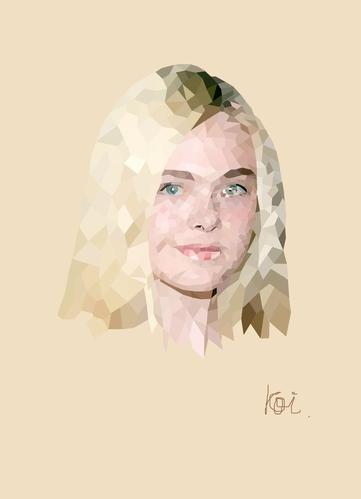 Elle #ellefanning #polygonart #illustration