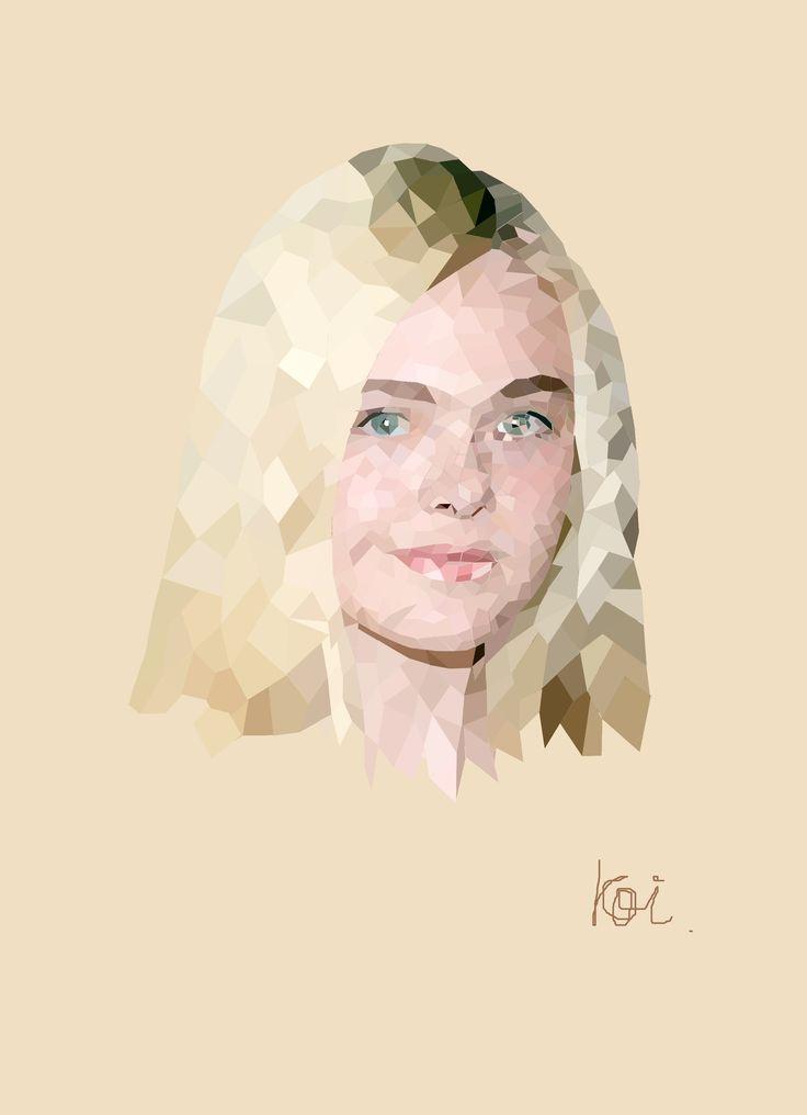 Elle #ellefanning #polygonart #illustration