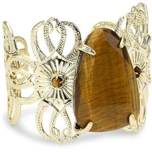 Kendra Scott Cambrie Tigers Eye Cuff Bracelet Beauty Cosmetics Makeup Skin Care Products
