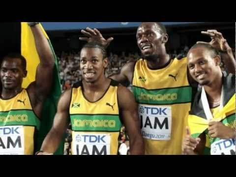Usain Bolt anchors Jamaica 4x100 men relay team to World Olympics record www.joggingtoloseweight.org/olympics-legend/
