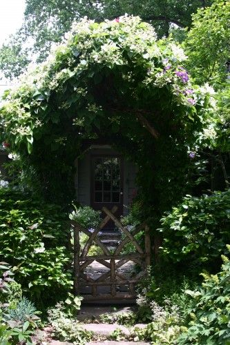 Rustic Garden Gate | Gates, Arbors, Pergolas! | Pinterest