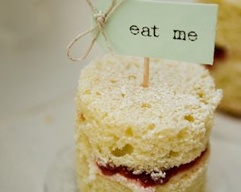 Mad tea party food or finger / tea sandwiches .  Perfect forAlice in Wonderland mad tea party or afternoon tea.