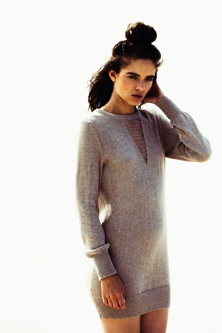 A/W '15 Karmen Knit Mini Dress in Fawn