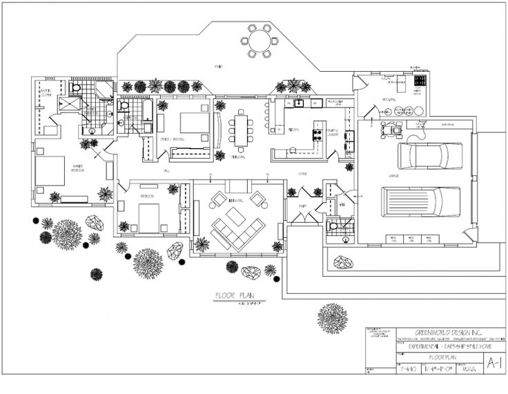 Earthship Floor Plan - Google Search