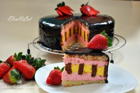 Sweet and not Sweet: Шоколадно-цитрусовый торт с клубничным муссом