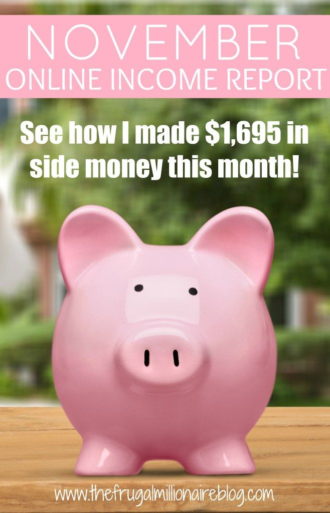 November Income - the frugal millionaire