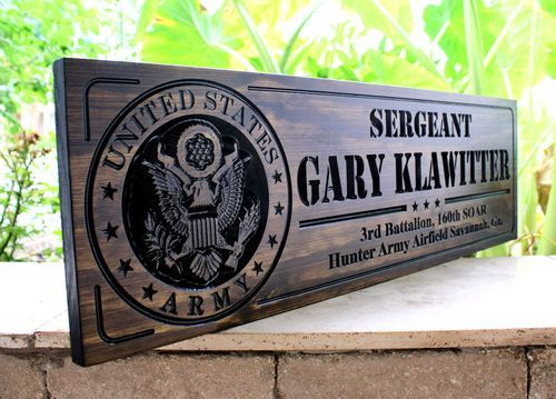 US ARMY SIGN - Military sign (CWD-218) | CNC signs