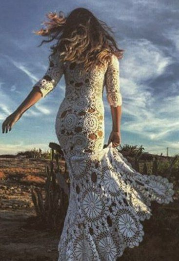 Vestido de Crochê - / Crochet Hooks Dress -