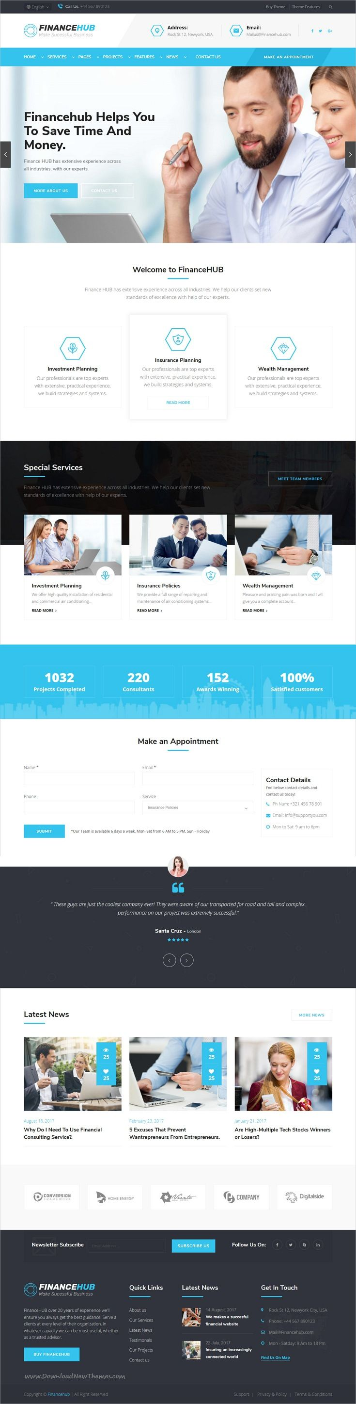 Finance HUB is clean and modern design 4in1 responsive bootstrap template for #corporate business #consulting and professional services website to live preview & download click on Visit  #webdesign