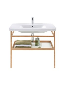 Image of Duravit DuraStyle 650mm Basin With Towel Rail And Shelf