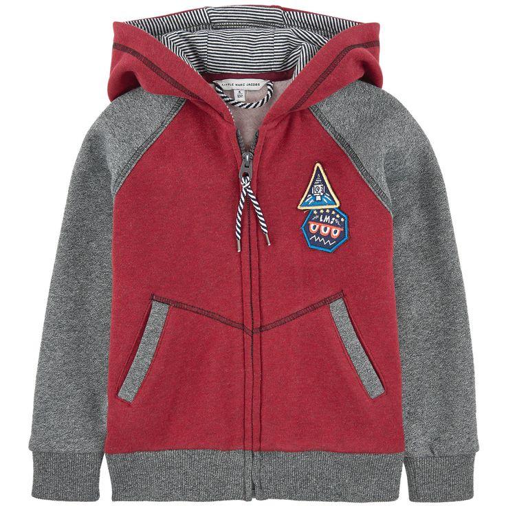 Boys two-colored fleece sweatshirt, Little Marc Jacobs at Melijoe.com.