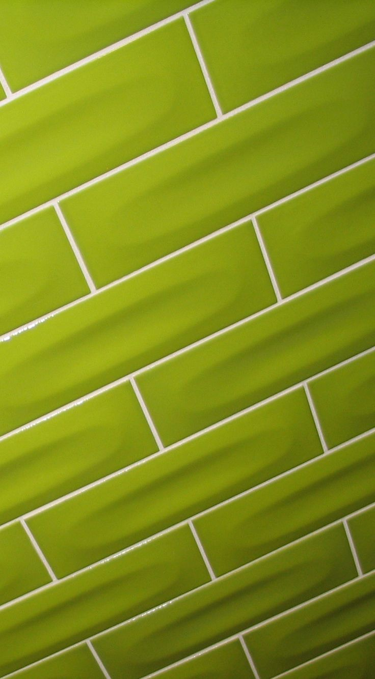 Beautiful 3x9 Oval tile in a light green for wall
