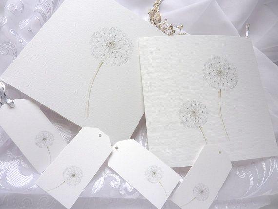Dandelion Clock delicate drawn by CardCreative on Etsy