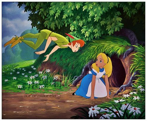 peter pan alice in wonderland With respect to language peter pan does not differ a great deal from alice in wonderland, though barrie was, as is known from other books he wrote, capable of writing in scottish dialect a lewis carroll - biography.