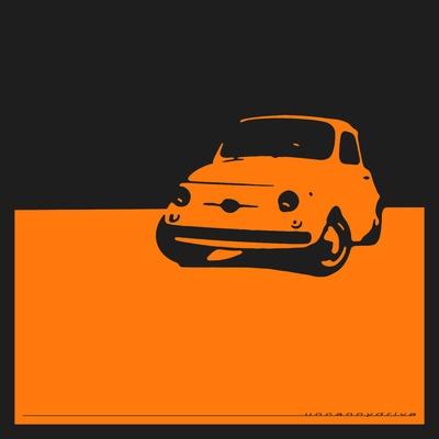 Fiat 500 Minimalist Graphic Advertisement