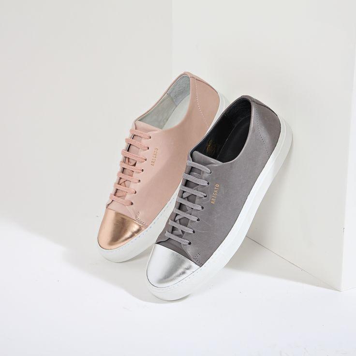 Axel Arigato metallic cap-toe sneakers #axelarigato https://axelarigato.com/usd_women/cap-toe-sneaker