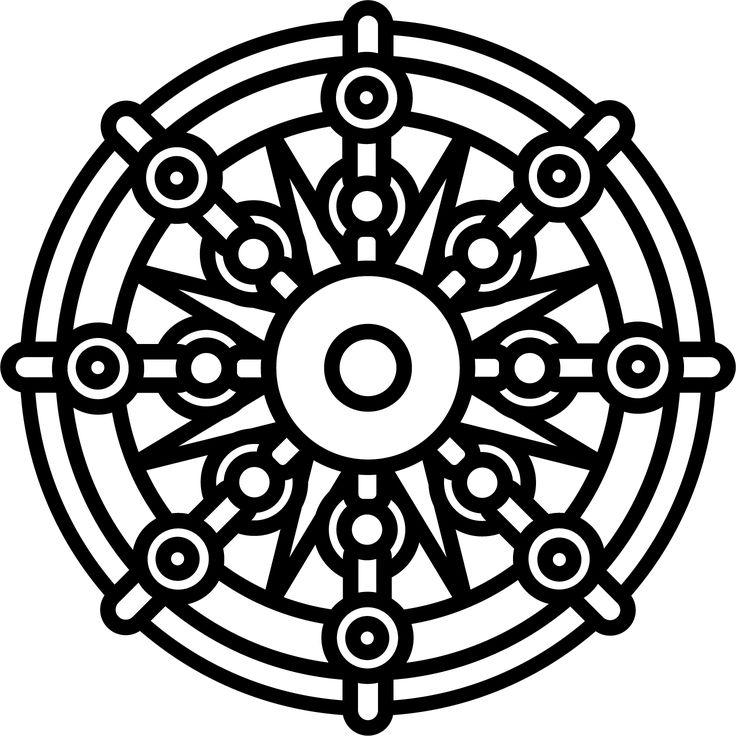 Dharma Wheel 112   Tattoos   Pinterest   Dharma wheel and ...