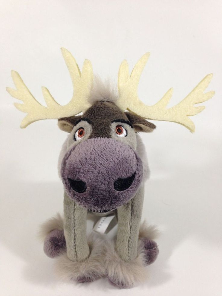 "Disney Frozen Movie SVEN the Talking Reindeer Plush Stuffed Toy 8"" Just Play #Disney"