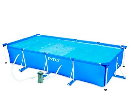 Piscina desmontable TUBULAR RECTANGULAR AZUL - Leroy Merlin