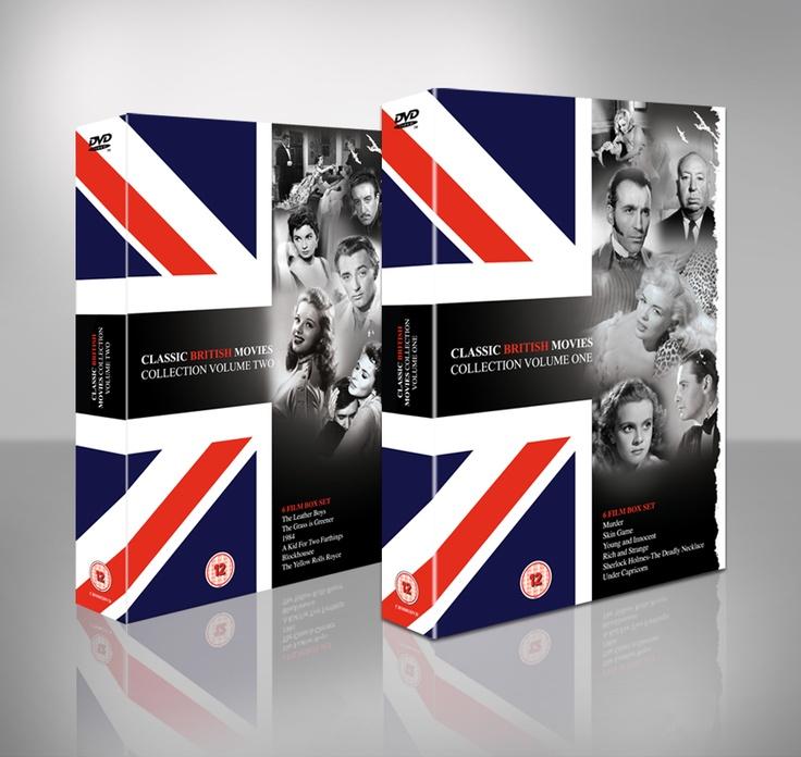 Classic British Movies 6 DVD Box set. DVD inlay and onbody design.