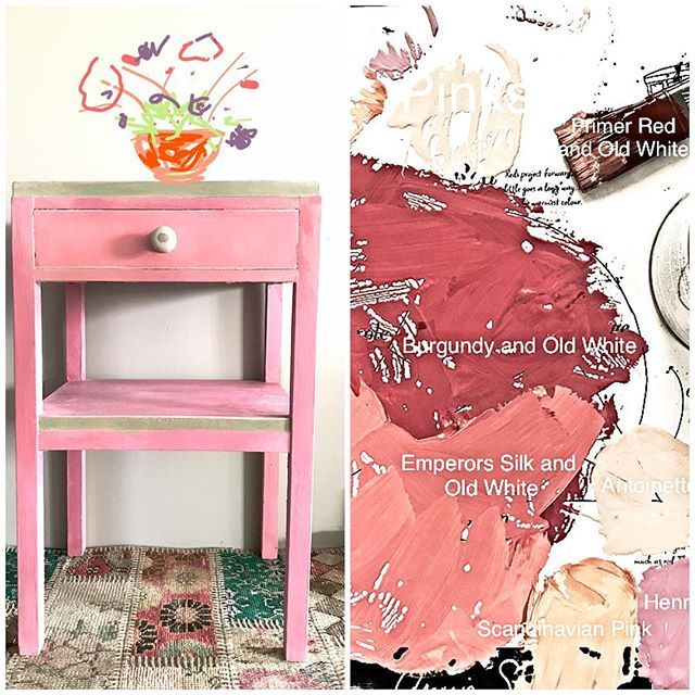 Thinking pink with Annie Sloan Chalk Paint®, that you can mix to create any colour you like. Take a look at our inspiration page for hot pinks to cool corals.