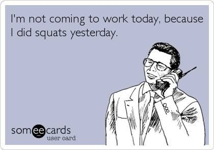 That's a totally acceptable excuse... #squats #fitness #humor weren't we just saying this Kadie!!!!