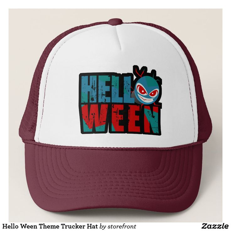 Hello Ween Theme Trucker Hat