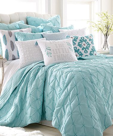Another great find on #zulily! Teal Spa Pin-Tuck Quilt Set #zulilyfinds