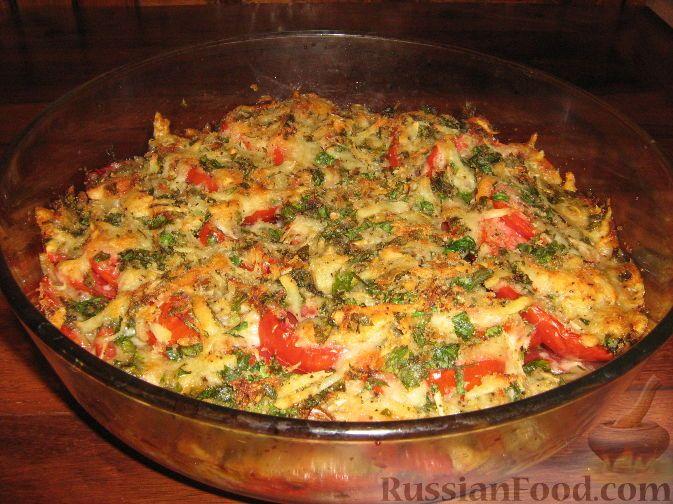 Фото приготовления рецепта: Помидоры, запеченные с сыром - шаг №6