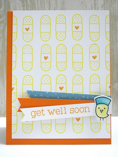 Get Well Soon by Jennifer Ingle using @lawnfawn stamps, dies, and patterned papers