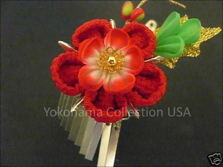 Shown here is traditional Japanese maiko bira-bira kanzashi hair ornament.The other sides of the kanzashi with a clip is made to be attached to your hair. It is used to accessorize kimonos or most casual looks. | eBay!