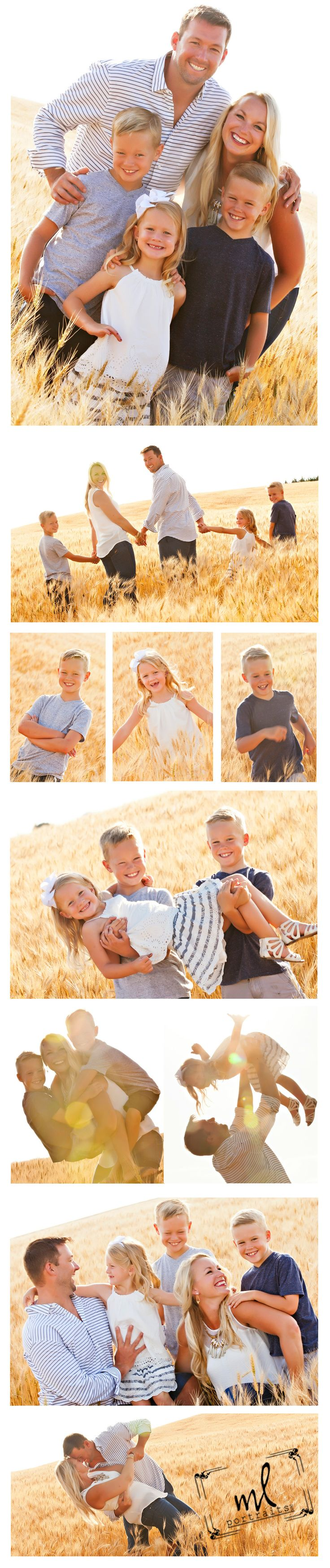 Photography | Family | Family Portraits | Outdoors | Families | Wheat Field | Families in Wheat | Children | Kids Photography | Candid Photos |