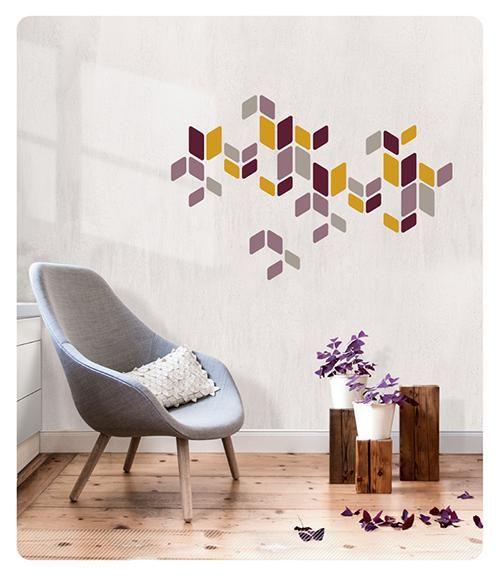 zeitloser #Wandsticker in harmonisierenden Farben. #Design #Wandtattoo #Deko