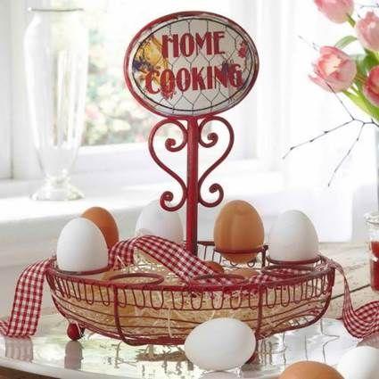 17 mejores ideas sobre centro de mesa de pascua en - Objetos decoracion cocina ...