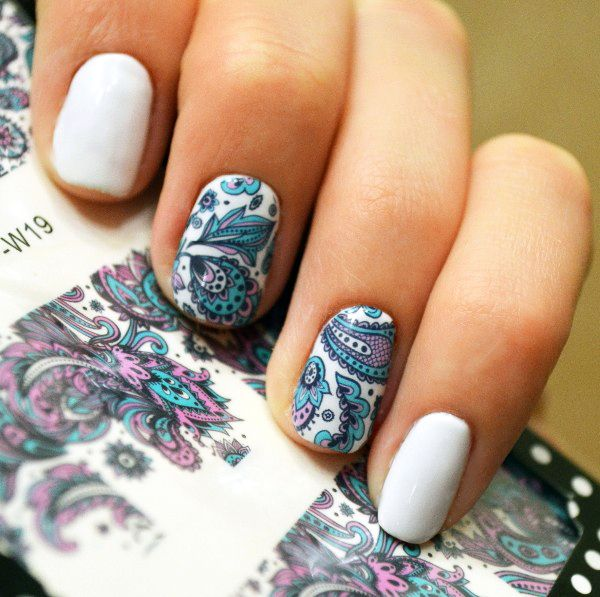 Blooming Flower Pattern Nail Art Water Transfer Decals Nail Stickers Wraps Manicure Pedicure Decoration Nail Sticker BP-W19 * Be sure to check out this awesome product.