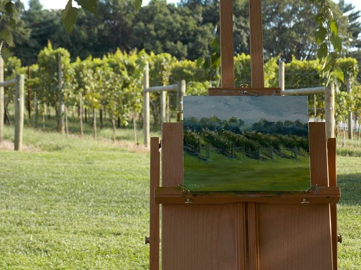 Plein air painting from Wilson's vineyard. 8x10 oil. Click on the photo and vote if you like this painting!