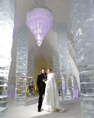 The breathtaking chapel at Quebec's Hôtel de Glace (Ice Hotel), with its fur-covered ice benches and frozen altar, could have sprung from th...
