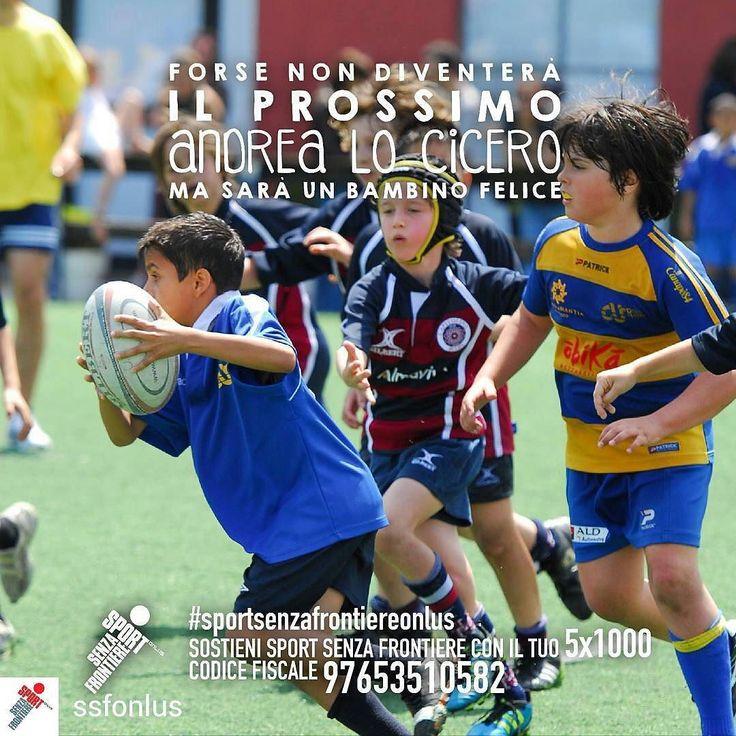 @Regrann from @ssfonlus -  Cosa rende un bambino davvero felice? Muoversi divertirsi giocare insieme. Crescere un passo per volta facendo sport con tanti nuovi amici lontano dalla strada per avere una vita sana e un futuro sereno.  Sostenere i nostri bambini non ti costerà nulla. Basta solo una firma. Dona il tuo 51000 a Sport Senza Frontiere: codice fiscale 97653510582.  @ilbarone1 #ilbarone1 #ilbarone #locicero #andrealocicero #rugby #pilone #faccedarugby #italrugby #SportSenzaFrontiere…