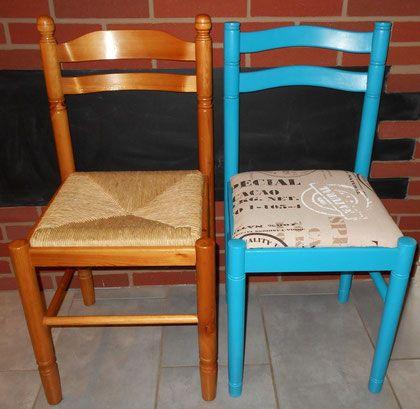 les 25 meilleures id es concernant chaises peintes sur. Black Bedroom Furniture Sets. Home Design Ideas