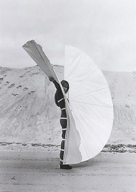white body fan by Rebecca Horn