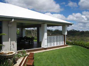 Shutters Aluminium External Custom Made Balcony Alfresco Bifolds Sliders Hinged   eBay