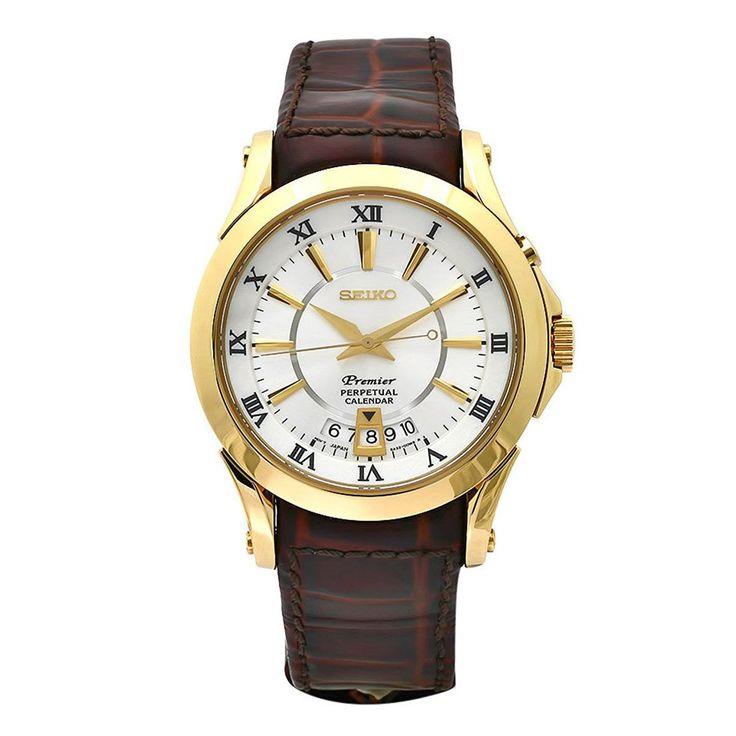 Seiko SNQ118 Mens Premier Silver Dial Perpetual Calendar Watch