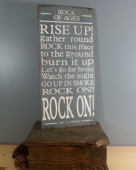 Rock of Ages Def Leppard Song Lyrics Dark by BugsHouseCreations----and it's MINE!!!