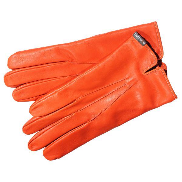 Gants cintrés Hurbane - cuir orange