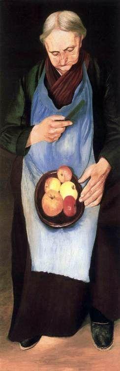 CSONTVÁRY KOSZTKA, Tivadar Old Woman Peeling Apple c. 1894